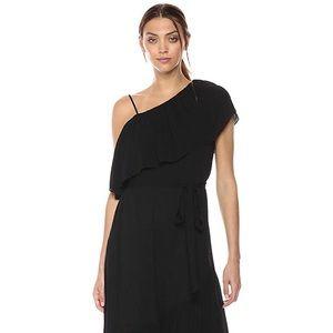 BCBGMaxAzria black asymmetrical dress